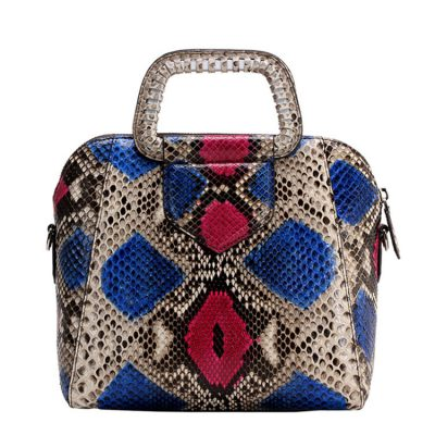 Classic Snakeskin Top-Handle Handbag, Snakeskin Evening Bag, Snakeskin Crossbody Bag