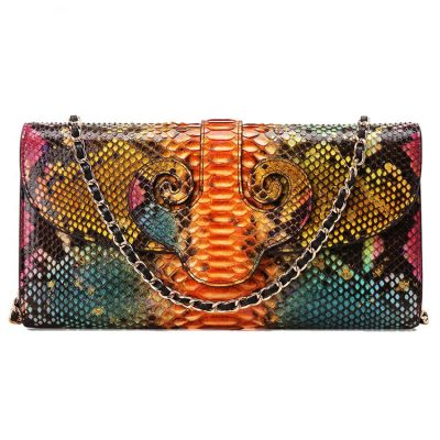 Designer Snakeskin Purse, Snakeskin Clutch Bag