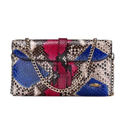 Handmade Snakeskin Clutch Purse, Snakeskin Cross Body Bag