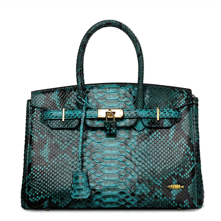 Luxury Genuine Snakeskin Handbag for Women