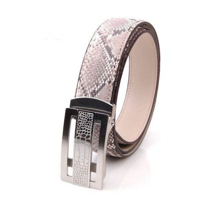 Men's Classic Dress Snakeskin Belt