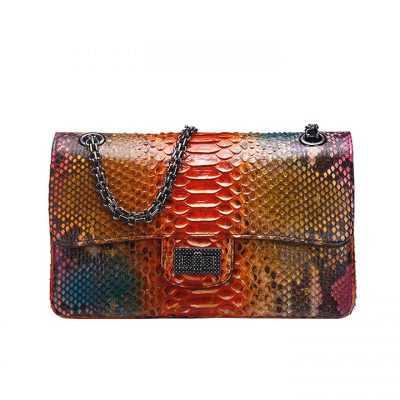 Python Skin Purse, Python Skin Clutch Bag, Cross Body Bag