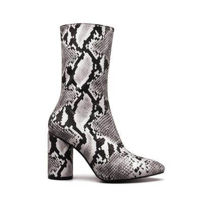 Snakeskin Boots, Genuine Python Skin Boots for Women