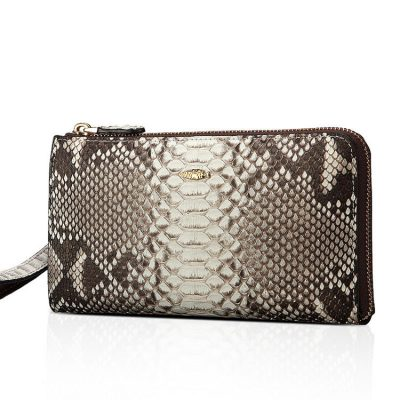 Snakeskin Clutch Purse, Snakeskin Wristlet Bag