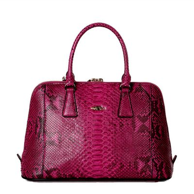 Women Fashion Snakeskin Top Handle Handbag