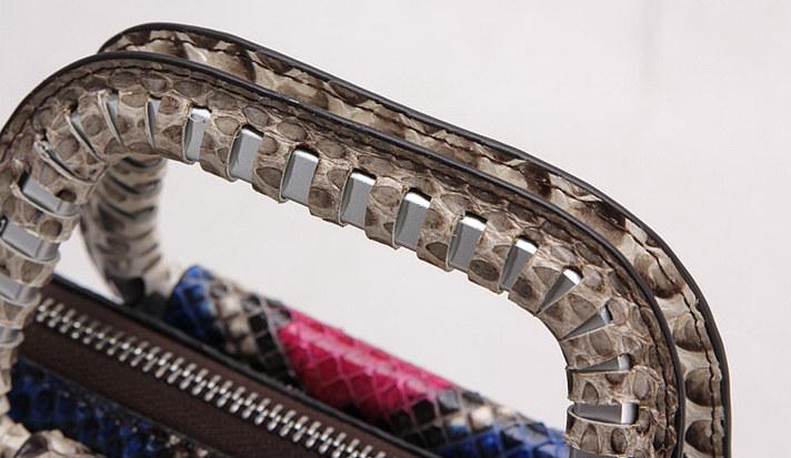 Classic Snakeskin Handbag-Handle