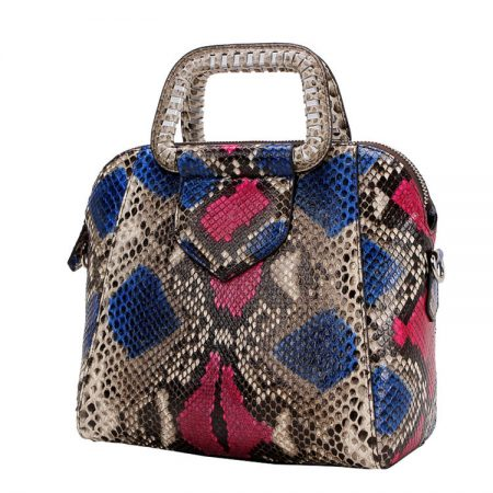 Classic Snakeskin Top-Handle Handbag, Snakeskin Evening Bag-1