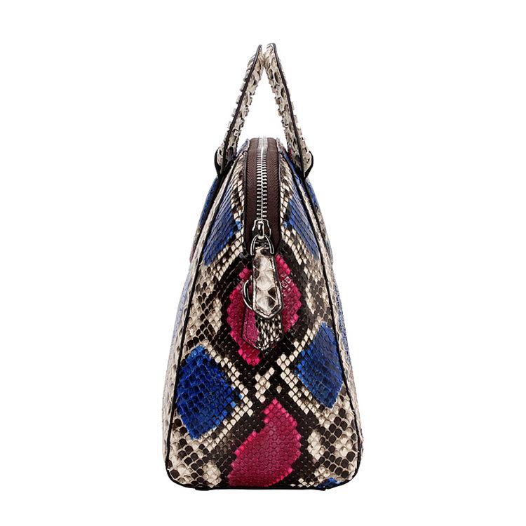 Classic Snakeskin Top-Handle Handbag, Snakeskin Evening Bag-Side