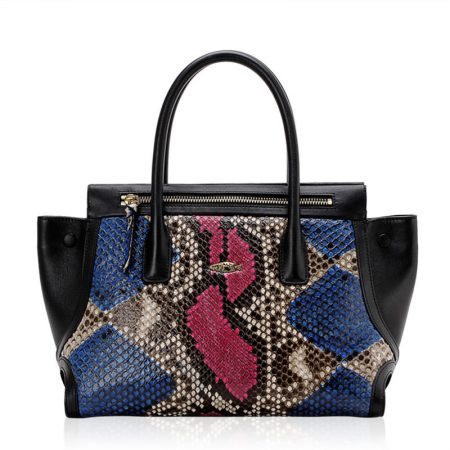 Fashion Snakeskin Handbag, Tote Shoulder Bag