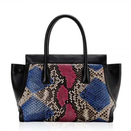Fashion Snakeskin Handbag, Tote Shoulder Bag-Back