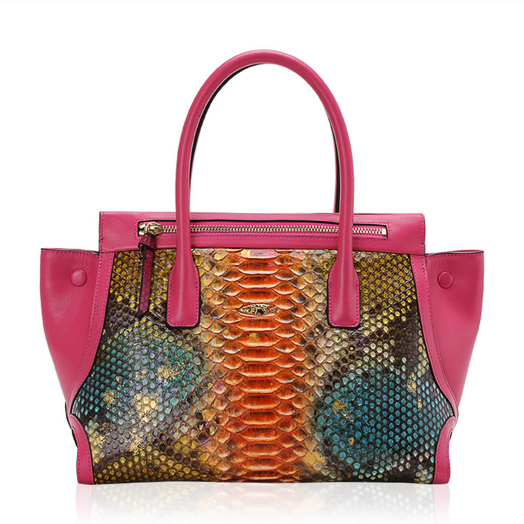 Fashion Snakeskin Handbag, Tote Shoulder Bag-Fantasy Viyola
