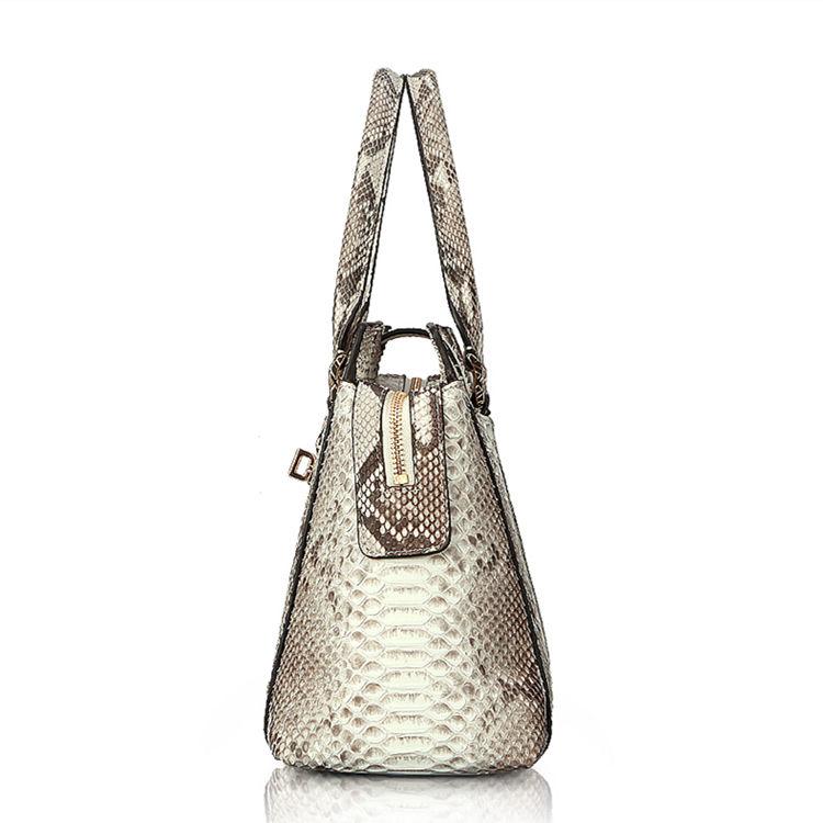 Genuine Python skin Handbag, Ladies Python skin Handbag-Side