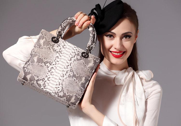 Genuine Snakeskin Handbags for Women