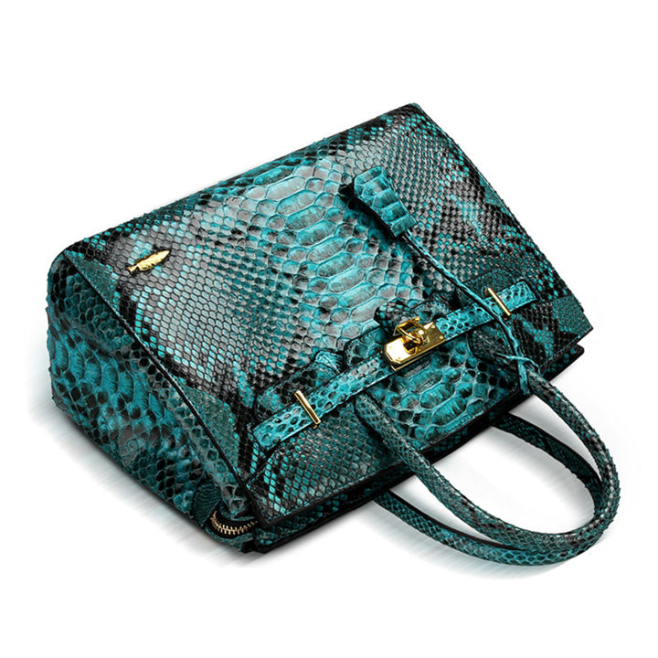 Luxury Genuine Snakeskin Handbag for Women-1