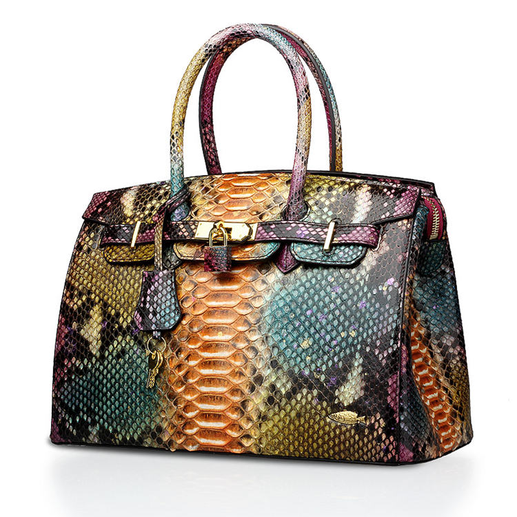 Luxury Genuine Snakeskin Handbag for Women-Fantasy Viyola