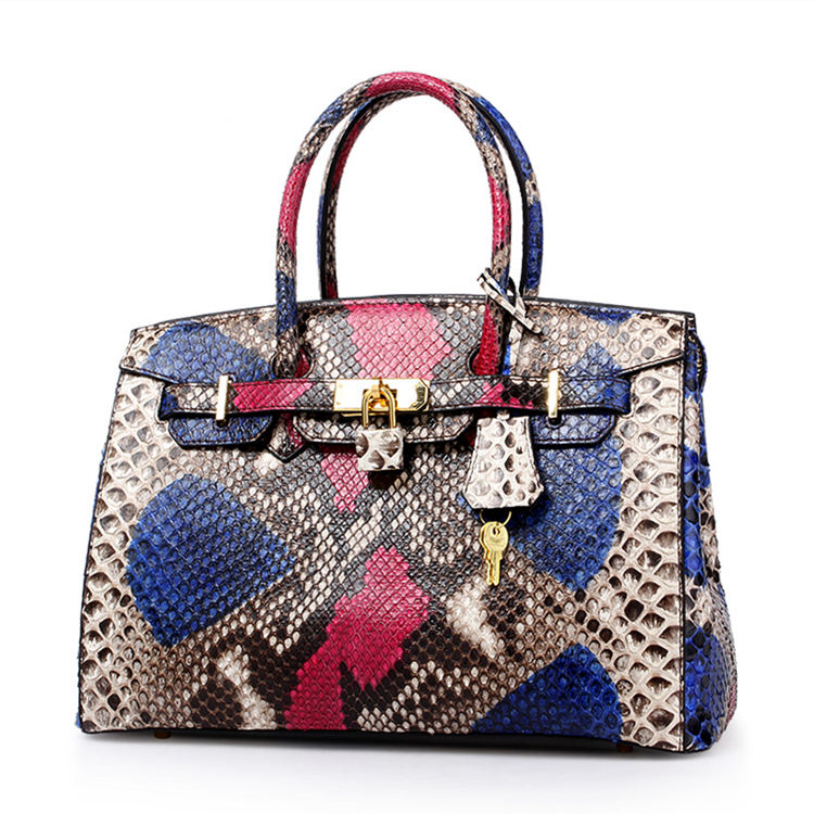 Luxury Genuine Snakeskin Handbag for Women-Symphony