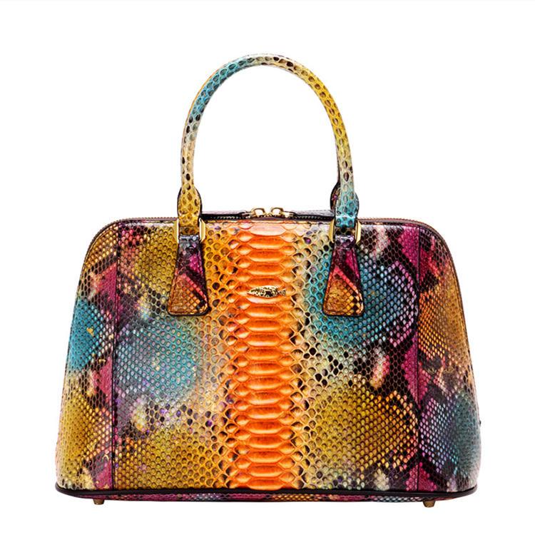 Women Fashion Snakeskin Top Handle Handbag-Fantasy Viyola