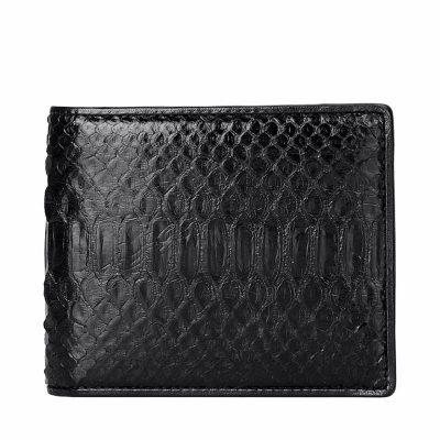 Black Snakeskin Bifold Wallet, Python Wallet