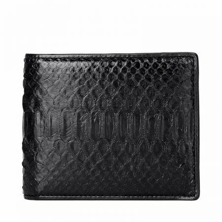 Black Snakeskin Bifold Wallet, Python Wallet-1