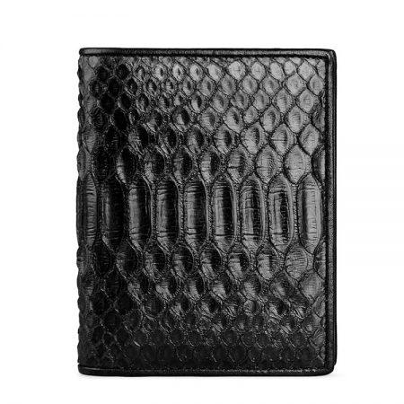 Black Snakeskin Bifold Wallet, Python Wallet-2