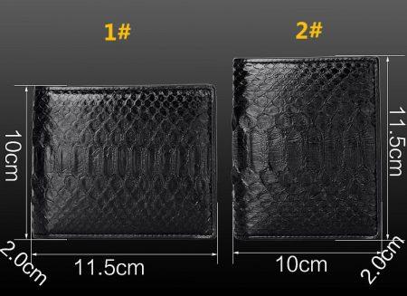 Snakeskin Bifold Wallets, Python Wallets-Size