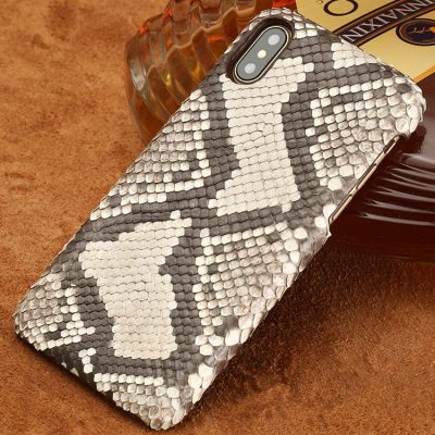 Snakeskin iPhone x Case, Python Skin Snap-on Case for iPhone X-Back Skin