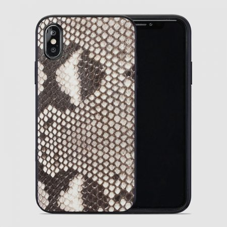 Snakeskin iPhone x Case, Python Skin iPhone X Case with Full Soft TPU Edges